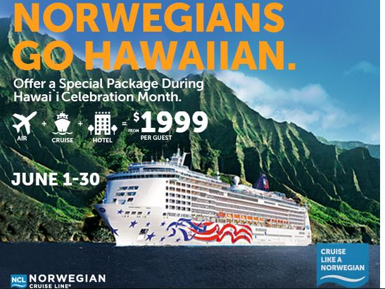 Norwegian hawaii cruise promo
