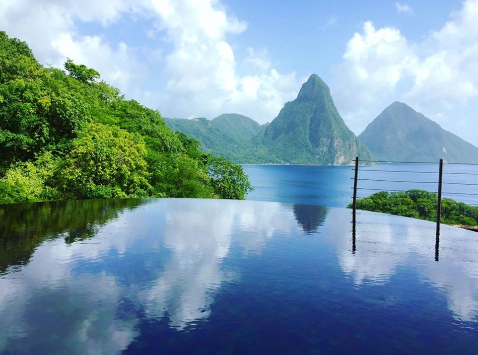 jade mountain infinity pool st lucia